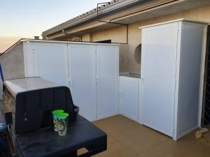 Mueble de almacenamiento de exterior.